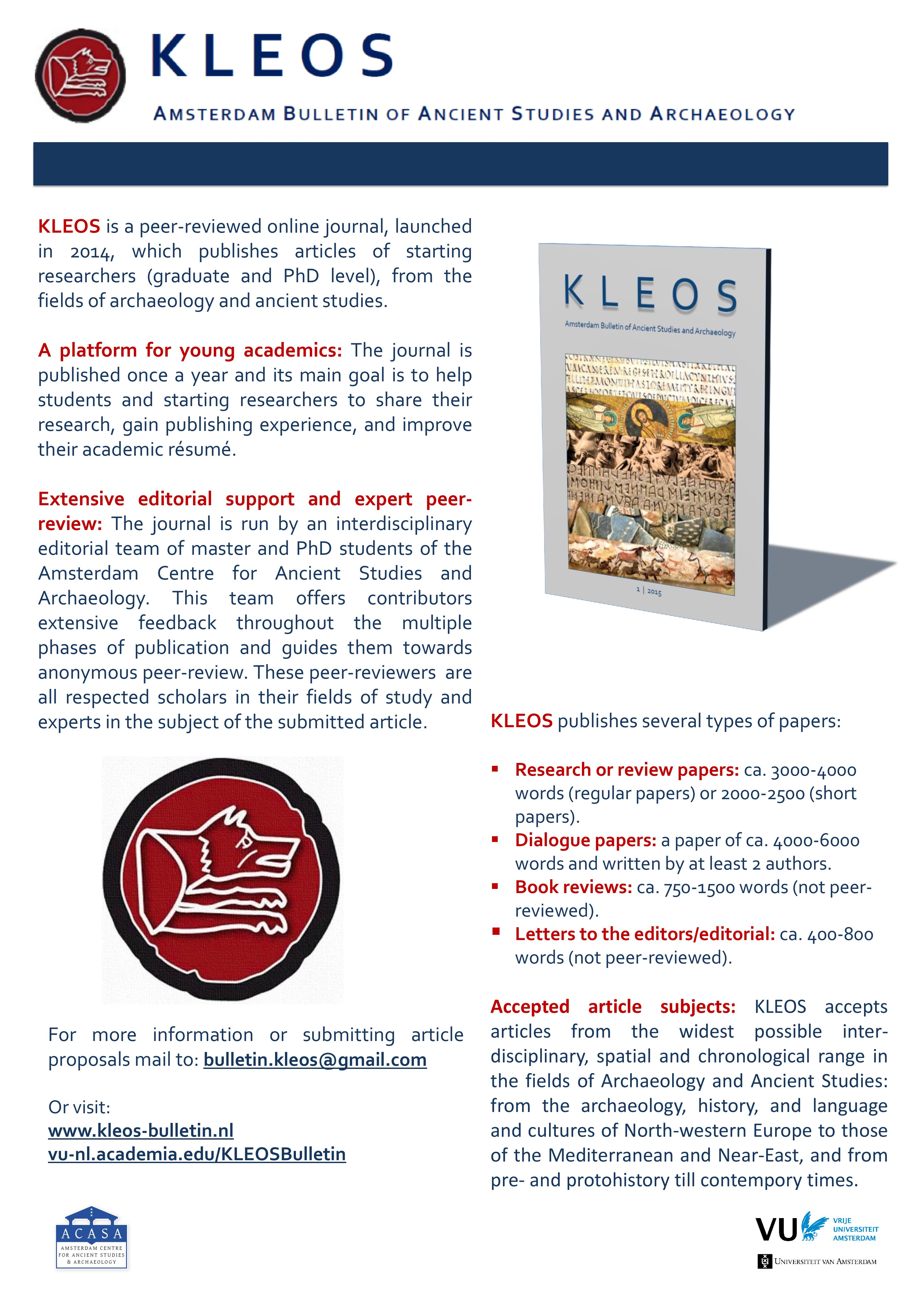 KLEOS flyer for contributors